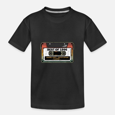 Cassette Best Of 1996 Vintage Cassette Funny Birthday Gift - Toddler Organic T-Shirt