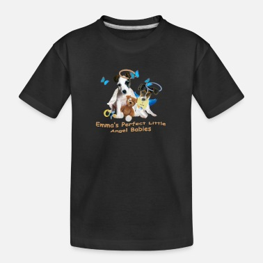 Jack Emma's Jack Russell Angel Babies - Toddler Organic T-Shirt