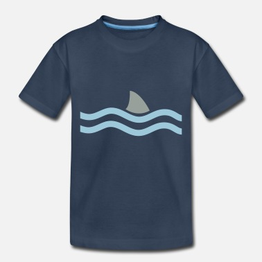 Shark Fin SHARK IN THE WATER - Toddler Organic T-Shirt