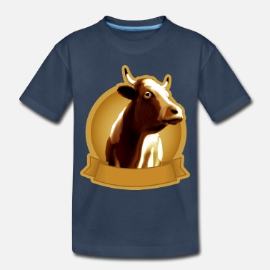 Beef Cow emblem - Toddler Organic T-Shirt