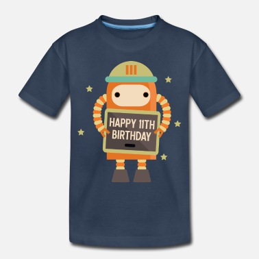 11th Birthday 11th Birthday Robot - Toddler Organic T-Shirt