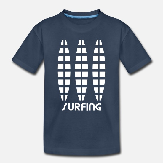 Design Baby Clothing - Surfing - Surfboard - Toddler Organic T-Shirt navy