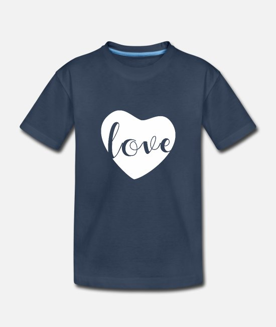 Corazon Baby T-Shirts - Sweet heart Romantic and pure. My white heart - Toddler Organic T-Shirt navy