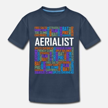 Cloud Aerialist Words - Toddler Organic T-Shirt