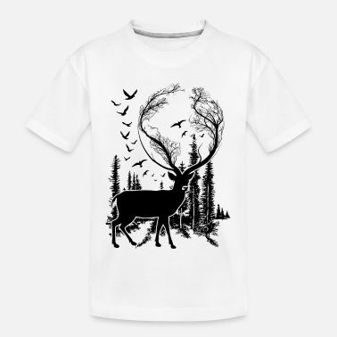 Natural Deer in Nature t-shirt for nature lovers! - Kid's Organic T-Shirt