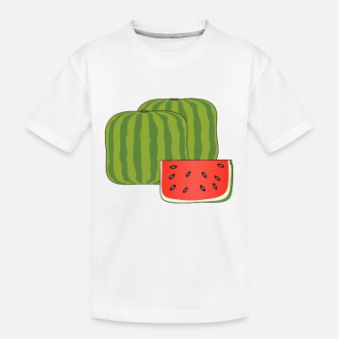 Moleskin Cubical watermelon - Kid's Organic T-Shirt