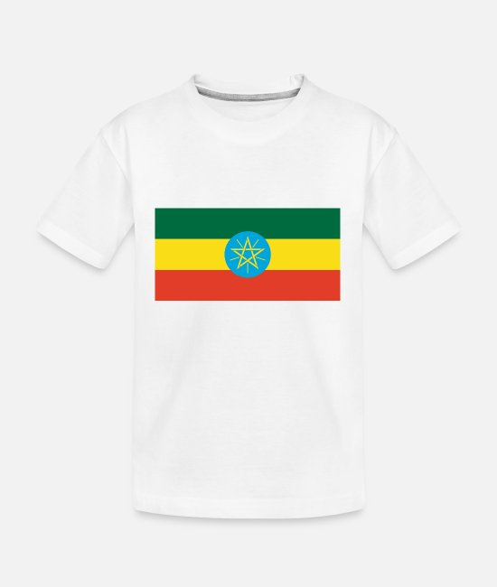 National T-Shirts - Ethiopia country flag love my land patriot - Kid's Organic T-Shirt white