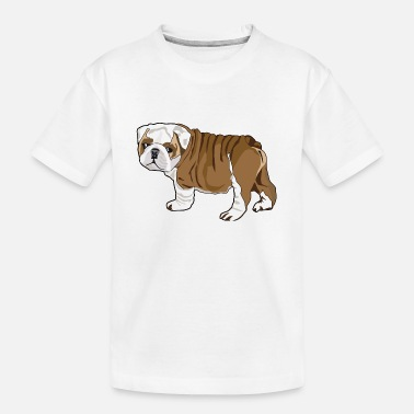 Bulldog Puppy Bulldog Puppy - Kid's Organic T-Shirt