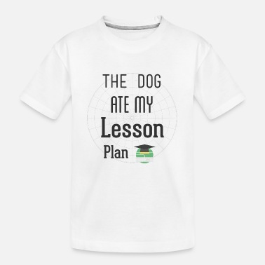 Sterren The Dog Ate My Lesson Plan T Shirt - Kid's Organic T-Shirt