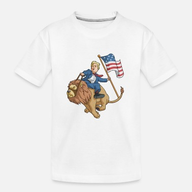 Day 4th Of July Donald Trump Lion - Kid's Organic T-Shirt