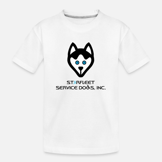 Dogs T-Shirts - Starfleet Service Dogs, Inc. - Kid's Organic T-Shirt white