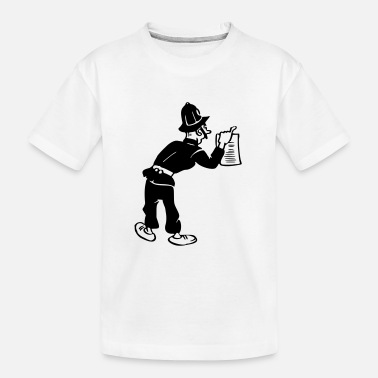 Gendarme Policeman with warrant - Kid's Organic T-Shirt