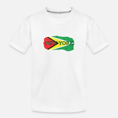 Guyana New York Guyana Flag - Kid's Organic T-Shirt