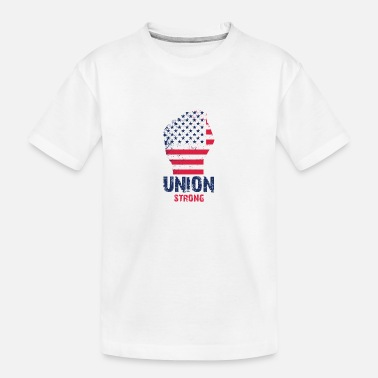 Union Strong Vintage USA Flag Proud Labor Day - Kid's Organic T-Shirt
