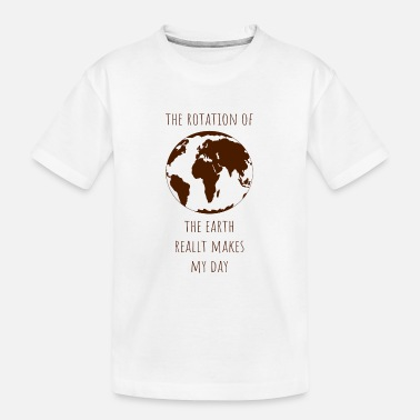 Climate Change Rotation earth day gift ecology climate change - Kid's Organic T-Shirt