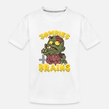 Zombies Eat Brains, Don't Worry You're Safe Funny - Kid's Organic T-Shirt