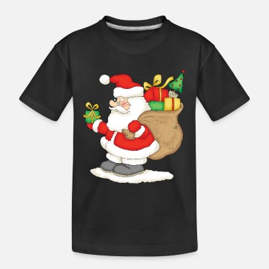 Claus Santa Claus with bag of gifts. - Kid's Organic T-Shirt