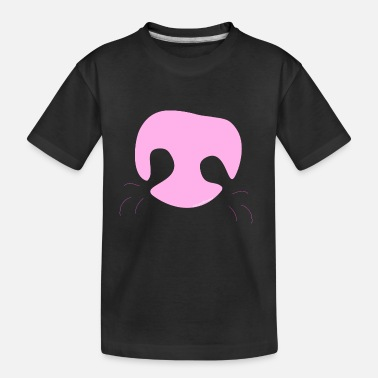 Pink Whimsical Dog Nose - Kid's Organic T-Shirt