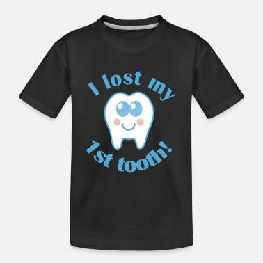 Tooth Lost My 1st Tooth Baby Teeth - Kid's Organic T-Shirt