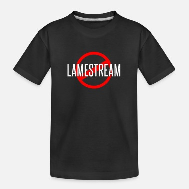 Stop The Ban lamestream red stop ban gift idea - Kid's Organic T-Shirt