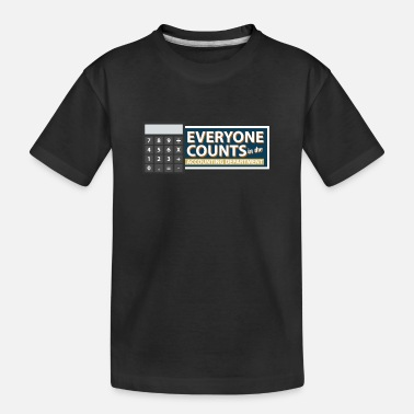 Illustration Everyone Counts In The Accounting Departement - Kid's Organic T-Shirt