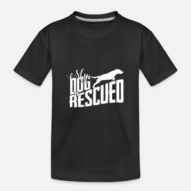 Rescue Dog rescued dog rescuing dogs gift - Kid's Organic T-Shirt
