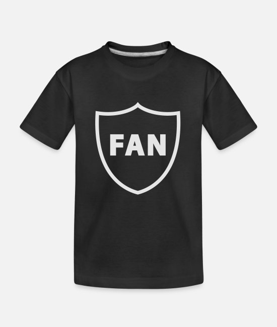 Fan T-Shirts - The Fan - Kid's Organic T-Shirt black