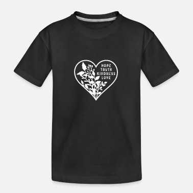 Heart My Full Heart Flowers and Love - Kid's Organic T-Shirt