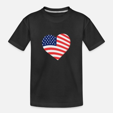Celebrate Heart in Stars and Stripes Gift - Kid's Organic T-Shirt