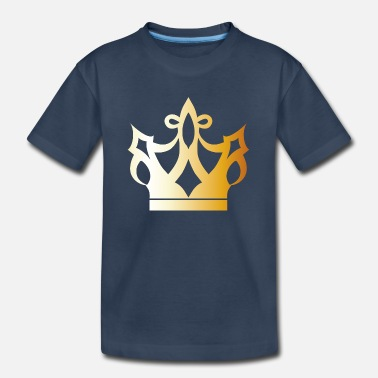 Cool King prince gold VIP crown lable vector image - Kid's Organic T-Shirt