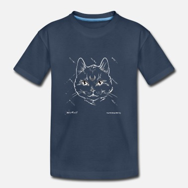 Gothic Moon Cat4 - Kid's Organic T-Shirt