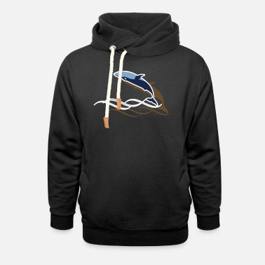 Sea Creatures Whale - Unisex Shawl Collar Hoodie