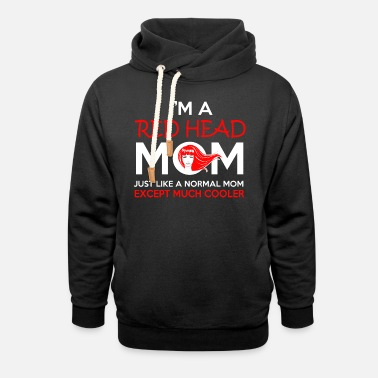 Red RED HEAD MOM - Unisex Shawl Collar Hoodie