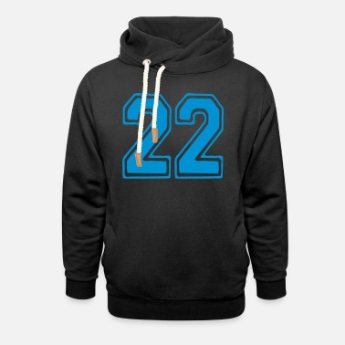 Number 22 ۞»♥Cool Best Number Twenty-two 22-Vector Design♥«۞ - Unisex Shawl Collar Hoodie