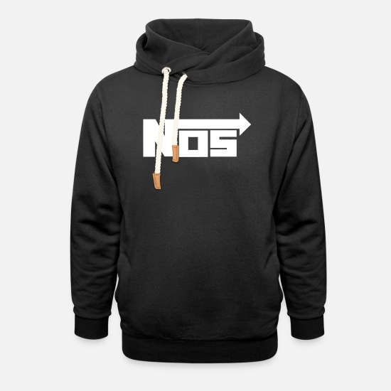 Drift Hoodies & Sweatshirts - NOS Logo White - Unisex Shawl Collar Hoodie black
