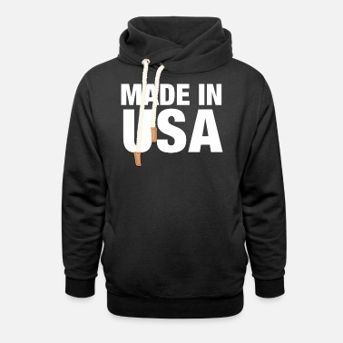 Made in USA - Unisex Shawl Collar Hoodie