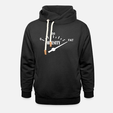 Obese obesity - Unisex Shawl Collar Hoodie