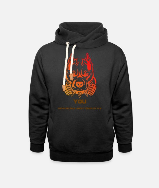 Red Hoodies & Sweatshirts - You Have No Idea About Dog's Style - Unisex Shawl Collar Hoodie black