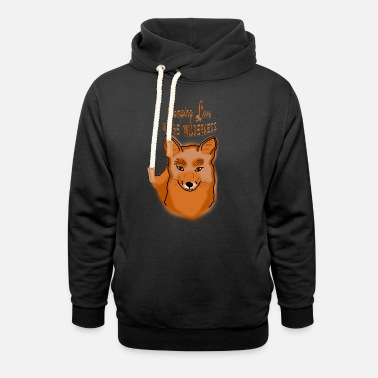 Camping Love Fox Animal Outdoor Adventure Present - Unisex Shawl Collar Hoodie