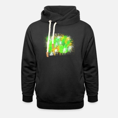 Halloween abstract Painting Design - Unisex Shawl Collar Hoodie