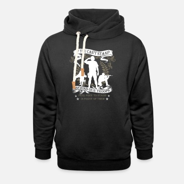 Support Our Troops Veterans - Our Troops - Unisex Shawl Collar Hoodie