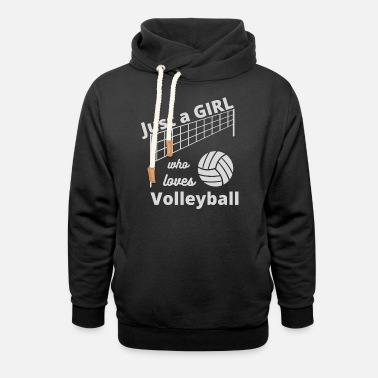 Just a Girl Who Loves Volleyball - Unisex Shawl Collar Hoodie