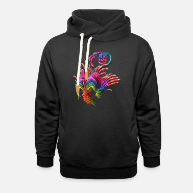 Color colorful phoenix - Unisex Shawl Collar Hoodie