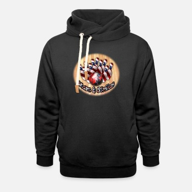 Stars and Strikes 2 - Unisex Shawl Collar Hoodie