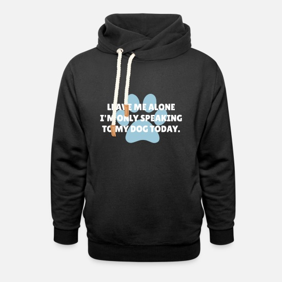 Today Hoodies & Sweatshirts - Dog Lover Tee Shirt - Unisex Shawl Collar Hoodie black
