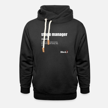 Stage Manager Stage Manager Definition (white) - Unisex Shawl Collar Hoodie