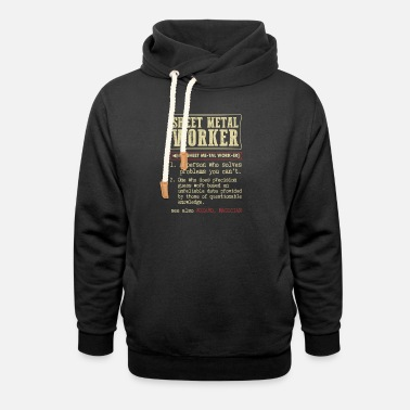 Sheet Sheet Metal Worker Dictionary Term - Unisex Shawl Collar Hoodie