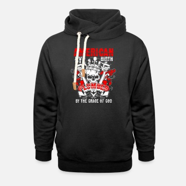 American By Birth Plumber T Shirt - Unisex Shawl Collar Hoodie