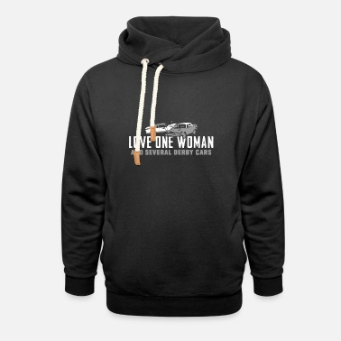 love one woman and several derby motorcycle t shir - Unisex Shawl Collar Hoodie