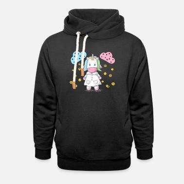 Unicorn Nurse - Unisex Shawl Collar Hoodie